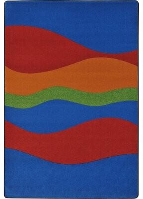 "Joy Carpets Flow Primary Kids Rug Rug Size: 7'8"" x 10'9"""