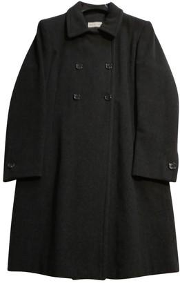 Alberto Biani Anthracite Wool Coats