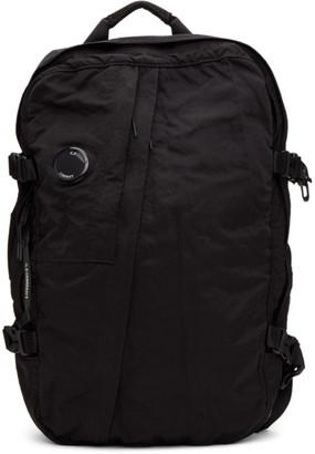 C.P. Company Black Nylon Mid Backpack