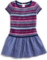 Design History Girls' Sweater & Chambray Dress