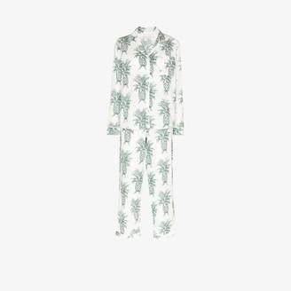 Desmond & Dempsey Howie pineapple print cotton pyjama set