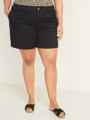 Old Navy Mid-Rise Plus-Size Everyday Twill Shorts -- 7-inch inseam