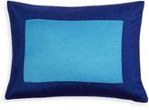 Jonathan Adler Aqua and Navy Siam Silk Pillow