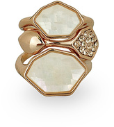 Rose Gold & Mother-of-Pearl Faceted Ring