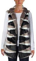Nic+Zoe Women's Zig Zag Faux Fur Vest