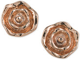 Carolee Rose Gold-Tone Rose Stud Earrings