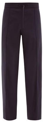 Dunhill Loose Fit Twill Trousers - Mens - Navy