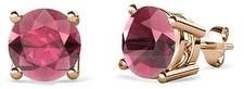 TriJewels Gemstone Four Prong Solitaire Women's Stud Earrings 14K Gold