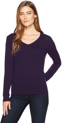 Amazon Essentials Women's 100% Cashmere V-Neck Sweater