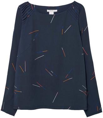 SKFK Ethical Fashion - Shirt Lyocell Lapia - EU 34 / DE 32 | Lyocell/ Viscose/ Dark Blue