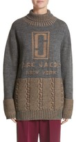 Marc Jacobs Women's Logo Knit Oversized Turtleneck Sweater