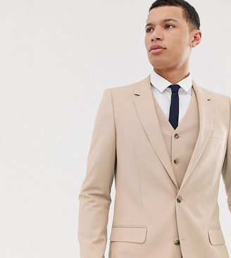 ASOS DESIGN Tall slim suit jacket in camel