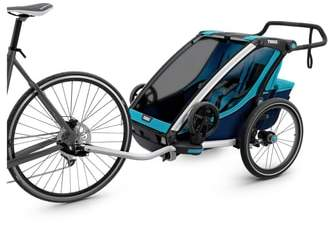 Infant Thule Chariot Cross 2 Multisport Double Cycle Trailer/stroller
