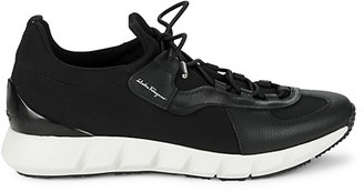 Salvatore Ferragamo Alpenicole Leather Textile Sneakers