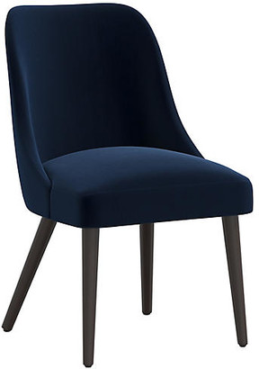 One Kings Lane Barron Side Chair - Navy Velvet