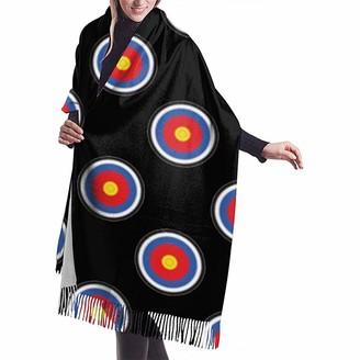 Yinyinyin.Womens Scarf Archery Target Womens Scarf Large Soft Silky Pashmina Cashmere Shawl Wrap 68 X 196 Cm