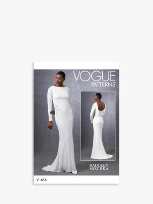 Vogue Women's Floor Length Gown Sewing Pattern, 1656