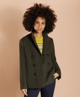 Brooks Brothers Wool-Blend Double-Knit Jersey Peacoat