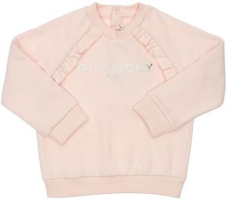 Givenchy Rubber Logo Cotton Sweatshirt