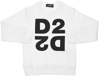 DSQUARED2 Logo Printed Cotton Sweatshirt
