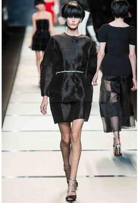 Fendi Black Silk Skirts