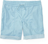Ralph Lauren Cotton Twill Parachute Shorts, Naples Blue, Size 5-7