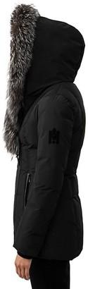 Mackage Adali Silver Fox Fur-Trim Coat