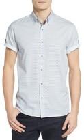 Ted Baker Men's Braaks Extra Slim Fit Flower Print Sport Shirt