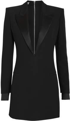 Philosophy di Lorenzo Serafini Satin-Trimmed Blazer Mini Dress