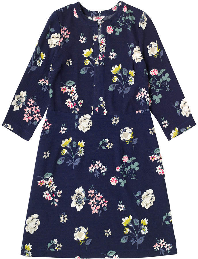 Cath Kidston Scattered Pressed Flowers Crepe Tunic Dress
