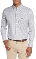 Peter Millar Men's 'Ohio State University' Regular Fit Twill Tattersall Sport Shirt