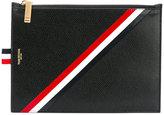 Thom Browne striped print zipped purse - men - Calf Leather - One Size