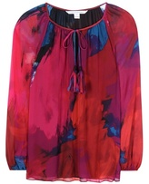 Diane von Furstenberg Saylor Printed Silk Blouse