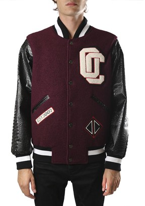 Opening Ceremony Varsity Jacket In Wool With Eco-leather Sleeves