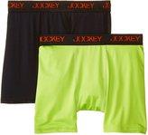 Jockey Big Boys' 2 Pack Real Performance Boxer Brief