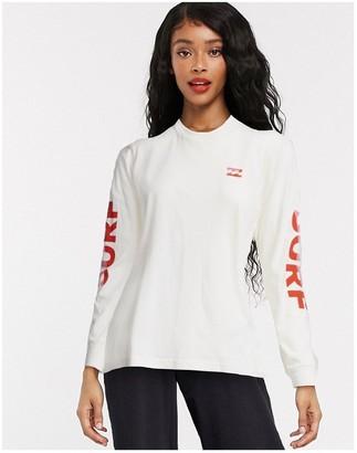 Billabong Surf Slice long sleeve tshirt in white