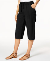 Karen Scott Edna Cotton Capri Pants, Only at Macy's