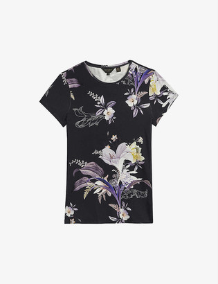 Ted Baker Decadence floral-print stretch-jersey T-shirt