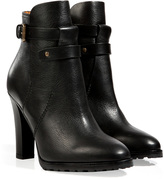 Ralph Lauren Leather Ankle Boots in Black