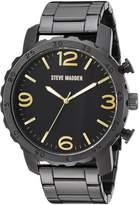 Steve Madden Men's Quartz Stainless Steel Dress Watch, Color: (Model: SMW095GU-G)