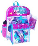 "Disney Minnie Mouse 16"" Kids' Backpack - 5pc Set"