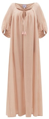 Thierry Colson Eva Drawstring Cotton-blend Maxi Dress - Womens - Pink
