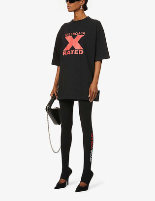 Balenciaga Brand-print oversized cotton-jersey T-shirt