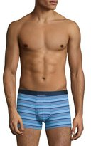 Derek Rose Striped Hipster Boxer Briefs, Blue