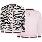 Kenzo KidsGirls Reversible Pink & Faux Fur Tiger Jacket