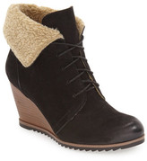 Caslon Gaby Faux Shearling Lace-Up Bootie (Women)
