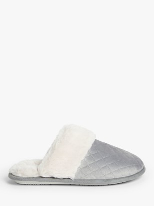 John Lewis & Partners Quilted Mule Slippers