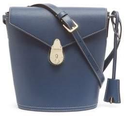 Calvin Klein Leather Lock Top Bucket Bag