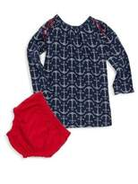 Hatley Baby's Two-Piece Seashell Anchor Dress & Bloomer Set