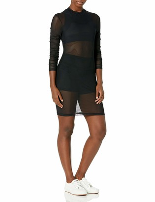 American Apparel Women's Stretch Mesh Long Sleeve Mockneck Mini